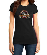 76TH STURGIS MOTORCYCLE RALLY AND RACES OFFICIAL LOGO BLACK WOMENS T-SHIRT