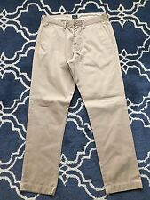 Worn J.Crew Factory Sutton Broken-In Chino Mens Flat Front Pants Navy Khaki Grey