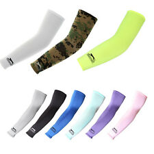 A Pair Compression Arm Sleeve Cooling UV Skin Cover Basketball Cycling Golf