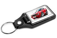 1976 1977 Ford Mustang Cobra Muscle Car-toon Key Chain Ring Fob NEW