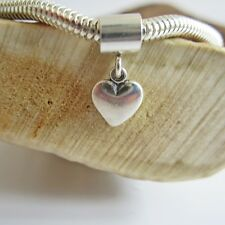 Small Heart European-Style Charm and Bracelet- Free Shipping
