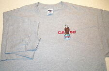 Mens Case Eagle Embroidered Long Sleeve T-shirt (4 colors)