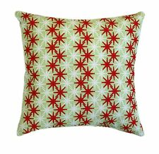 Christmas Throw Pillow, Cass Red, Green and White Pillow, Red Stars Throw Pillow