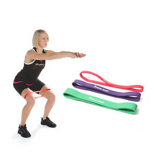 Exercise Stretch Resistance Loop Band Yoga Pilates GYM Workout 3-levels10-70bls