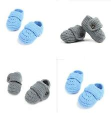 Baby Boy Girl Cute Newborn Solid Color Slipper Sandal Shoes Crochet Knit Booties
