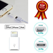 Genuine Samsung Micro USB 5Pin Female to Apple iPhone5/6/6S/6+ 8Pin Male Adapter