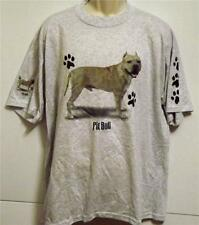 PIT BULL TERRIER PAW PRINTS  On Sleeve Too Tee Shirt Sizes  SMALL To 4XL NWOTS