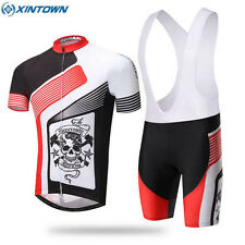 XINTOWN Red Cycling Jersey Bike Bicycle Comfortable Outdoor Shirt + Bib Shorts