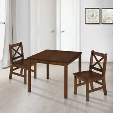Kids'  Table and 2 Chairs  Set  Solid Hard Wood