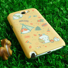 Cute Molang Phone Hard Back Skin Case Cover for Smart Phone - camping Yellow