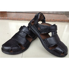 Men Genuine Leather  Shoes Fisherman Sandals Summer Casual Leather Shoes Hot New