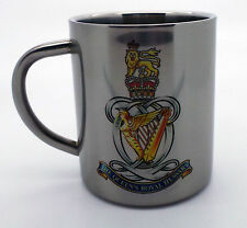 Queens Royal Hussars QRH Queens Own 10oz Stainless Steel Military Mug