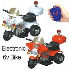 KIDS RIDE ON 6V POLICE STYLE  MOTORBIKE ELECTRIC BATTERY POWERED SPORTS BIKE
