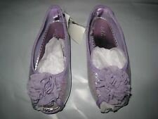 NWT BABY GAP GIRLS PURPLE KEY WEST PEEP TOE FLOWER SHOES SIZE 10