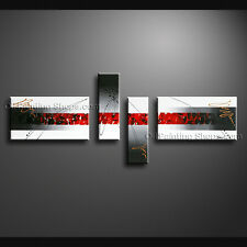 Hand-painted 4 Pieces Modern Abstract Painting Wall Art Ready To Hang