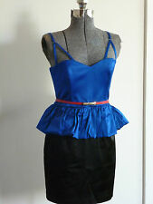 FOREVER NEW STUNNING ROYAL BLUE GIA PEPLUM DRESS Evening size NWT size 10 or 14*