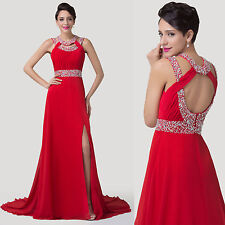 New Women Long Maxi Evening Bridesmaid Formal Wedding Prom Party Ball Gown Dress