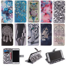 Fashion Painted PU Leather Wallet Flip Card Holder Stand Case Cover For Samsung