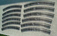 New, Gar Graves, O Gauge Track, twelve O-80 Curved Sections for MTH and Lionel