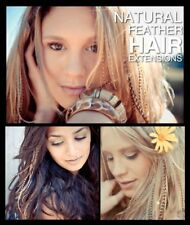 Natural Feather Hair Extensions Real 5+1FREE Grizzly Feathers Tools Kits Beads
