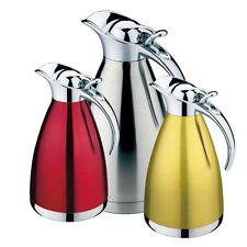 4 Color 1L 1.5L 2LCoffee/Tea pot DOUBLE WALL VACUUM pitcher Stainless Steel 304