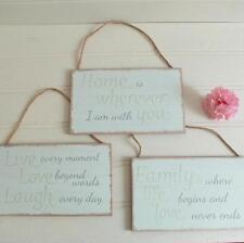 Shabby Rustic Chic Style MESSAGE Wooden Hanging SIGN Plaque DECORATION