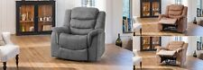 Luxury electric recline suede Armchair extra comfort Mocha, Charcoal brown- NEW!