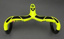 Carbon Fiber 3K Road Track Bike Racing Drop Integrated Bar Stem Handlebar Yellow