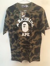 New With Tag Bape Green 1st Camo College Tee T Shirt Shark Supreme Made In Japan
