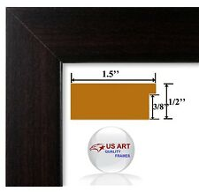Columbian Coffee Dark Brown Picture Poster Photo FRAME  Wood Composite14 in WIDE
