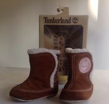 Timberland Cribbie Light Brown Suede Pre-walker Baby Boots Shoes Pram Shoes
