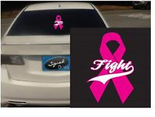 """(2) 4"""" fight ribbon vinyl Decal sticker any size color surface car wall S005"""