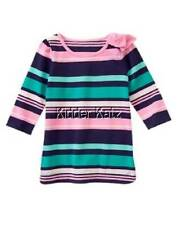 Gymboree Girls NWT Hop N Roll Stripe Tee Shirt Top Size 6 7 New