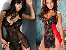 Babydoll G String Sleepwear Underwear Sexy Lingerie Lace Dress Plus Size Women