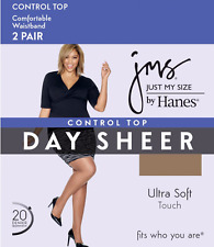 (6) Just My Size® Smooth Finish Control Top Pantyhose Reinforced Toe ~ 3X or 4X!