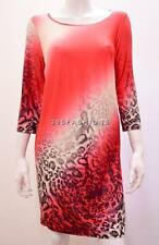 PLUS SIZE FUNKY OMBRE LEOPARD PRINT TUNIC TOP DRESS RED 20 22/24 26/28 30/32