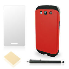 Galaxy S3 Case Slim [Screen Protector Clear With Stylus Pen] Hard Armor Hybrid