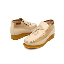 British Collection Men's Classic Beige Leather Slip-on with Tassle Shoes 5211-03