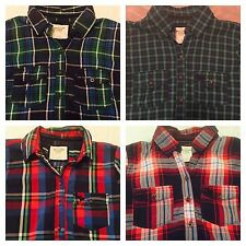 NWT Women's Abercrombie & Fitch Plaid & Check Button Down Shirt S $68