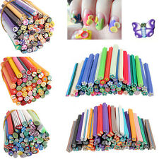 HOT 50pcs DIY 3D Nail Art Fimo Canes Stick Rods Polymer Clay Stickers Decoration