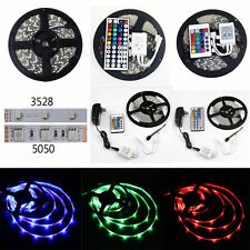 Full Kit 5M 3528 5050 SMD 300LED RGB Flexible Strip Light IR44 IR24 Remote Power
