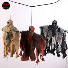 Halloween Supplies Haunted House Props Black Ghost Bats Sound Activated Hanging