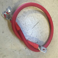 1/0 Gauge AWG RED Custom Built Copper Battery Cables- Automotive, SUV, Truck, RV