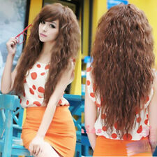 Full Curly Sexy Womens New Long Wavy Cosplay Party Fashion Hair Wigs 3 Colors