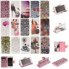 For Samsung Galaxy Flip Stand Paint PU Leather Wallet Phone Case Cover Patterned