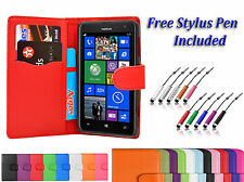 Magnetic Side Wallet Book Flip Leather Case Cover For Various Nokia Lumia Phones