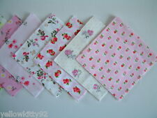 Charm pack 5 inch squares PINK & IVORY MIX 100% cotton patchwork quilting crafts