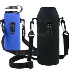 Hot Outdoor 1L Water Bottle Carrier Insulated Cover Bag Pouch Holder Strap Pouch