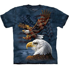 EAGLE FLAG COLLAGE T-Shirt The Mountain USA American Patriotic S-3XL NEW