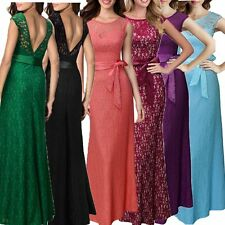 Sexy Women Ball Prom Gown Formal Evening Party Cocktail Sleeveless Maxi Dress